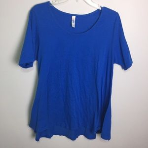 Lularoe Blue Perfect T size Large